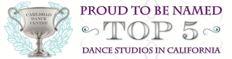 "Voted ""Top 5 Dance Studios"" in San Diego County"